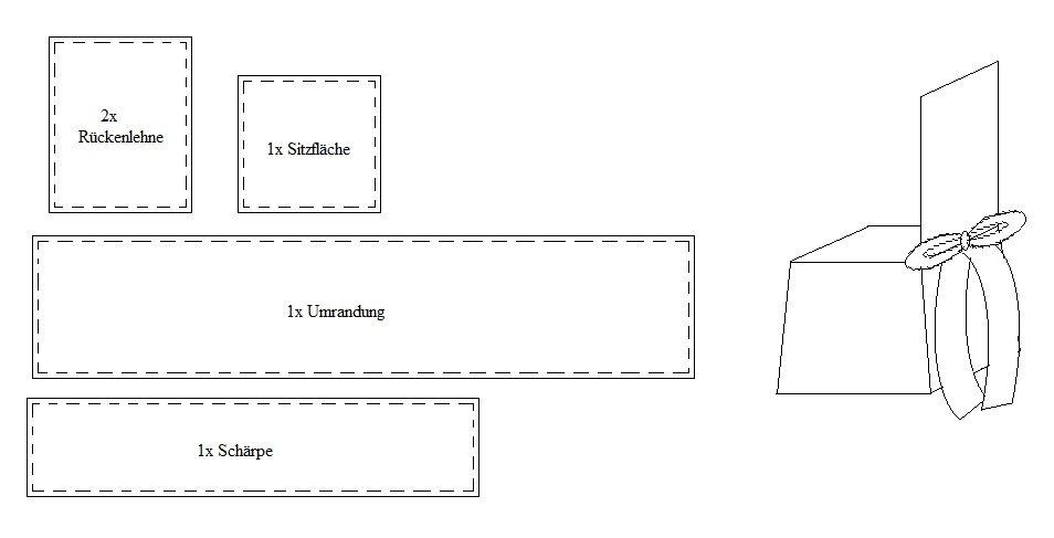 anleitung stuhlhusse aus seide anleitungen tipps und vorlagen. Black Bedroom Furniture Sets. Home Design Ideas