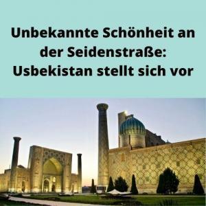 Unbekannte Schönheit an der Seidenstraße Usbekistan stellt sich vor